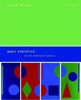 Basic Statistics For The Behavioral Sciences 5Th Ed Hc