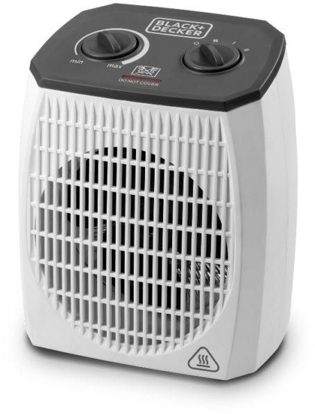 VERTICAL FAN HEATER WITH THERMOSTATIC CONTROL, COOLING FAN, LOW NOISE LEVEL