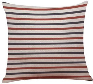 mediterranean collection decorative cushion cover throw pillow case with cushion filling stripes - The Pillow Collection