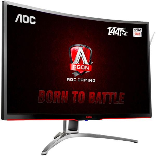 AOC 32-inch Curved VA display gaming monitor with AMD Sync technology, Full  HD Resolution - 1920X 1080، 4ms, 144HZ refresh rate, with colorful LED