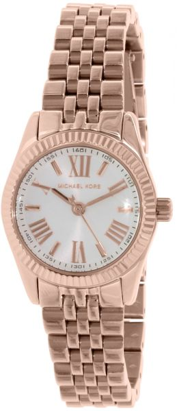 af37e7fca61a Michael Kors Lexington Women s White Dial Stainless Steel Band Watch ...
