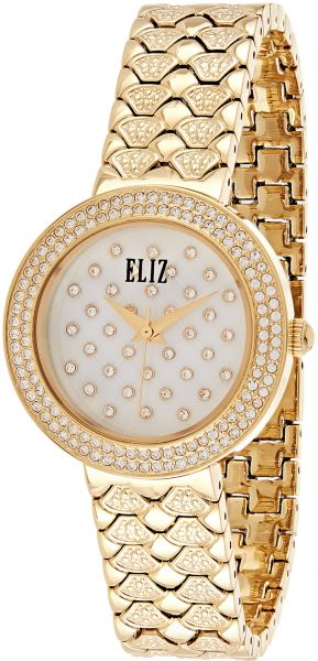 b70f62eaa000 Eliz Casual Watch For Women Analog Yellow Gold Plated - ES75-8438L-GH