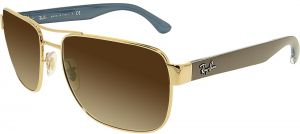 be8b047386a Ray-Ban Rectangle Men s Sunglasses - RB3530-001 13-58 - 58-17- 140mm