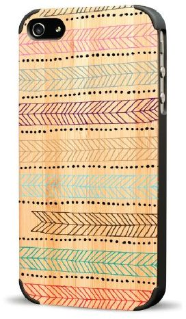Recover Feather Wood Case for iPhone 4/4S - Bamboo/Black - Retail