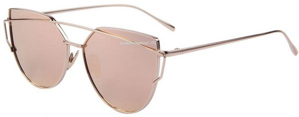 d2b090cc4b4 ... Mirrored Metal Frame Glasses Oversized Cat Eye Sunglasses Gold Frame Pink  Glasses. by Other