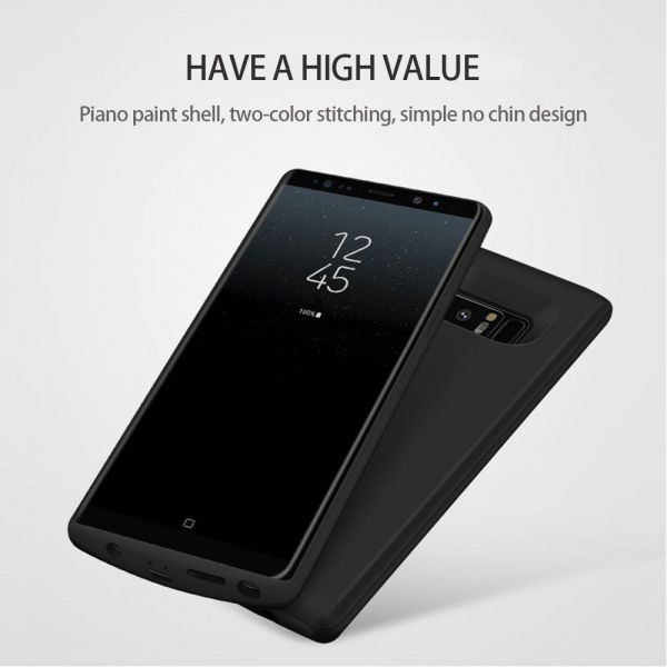 watch 5b888 fbb89 (E-L) Galaxy Note 8 Battery Case 6500mAh, Extended Battery Charger Case  Rechargeable Power Bank Battery Charging Case For Samsung Galaxy Note 8  (Black ...