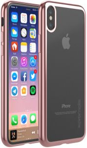 b5dffd9ecd Promate iPhone X Case, Super-Slim Hard Protective Transparent Back Cover  with Reinforced Metallic Platting Edges and Drop Protection for 5.8 Inch  Apple ...