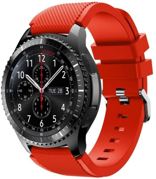 ed390af4dbac Samsung Gear S3 Frontier Band Soft Silicone Sport Replacement Band - Red