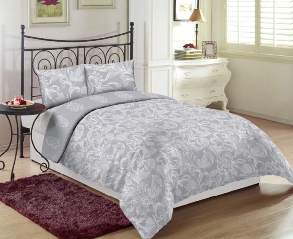 Beau Gray Single Size 100 X 200 + 30 Cm Regency Bed Sheet