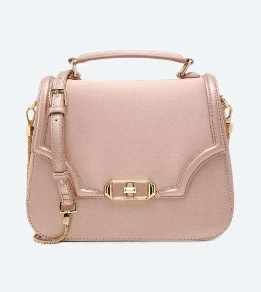Charles Keith Shoulder Bag Rose Gold