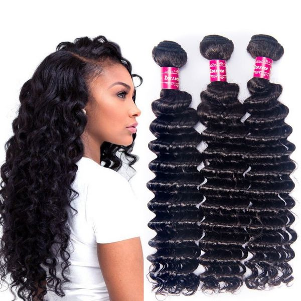 Souq Zorssar Hair 3 Bundles Brazilian Virgin Hair Deep Wave