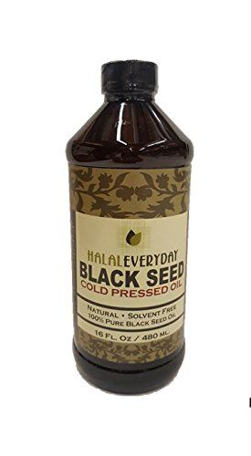 Pure Black Seed Oil - 32oz - 2-16oz Bottles of 100% Pure and Cold Pressed  Black Seed - NON-GMO and Vegan - Nigella Sativa -100% Hexane Free - Halal