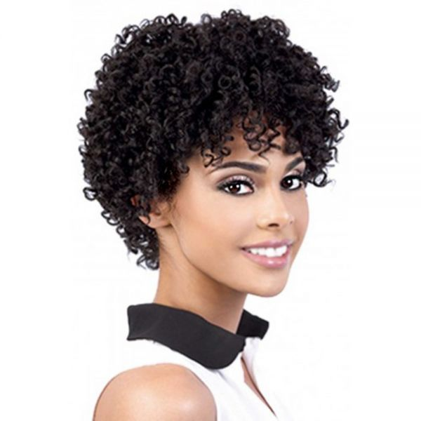 Charming short human hair wigs for black women think