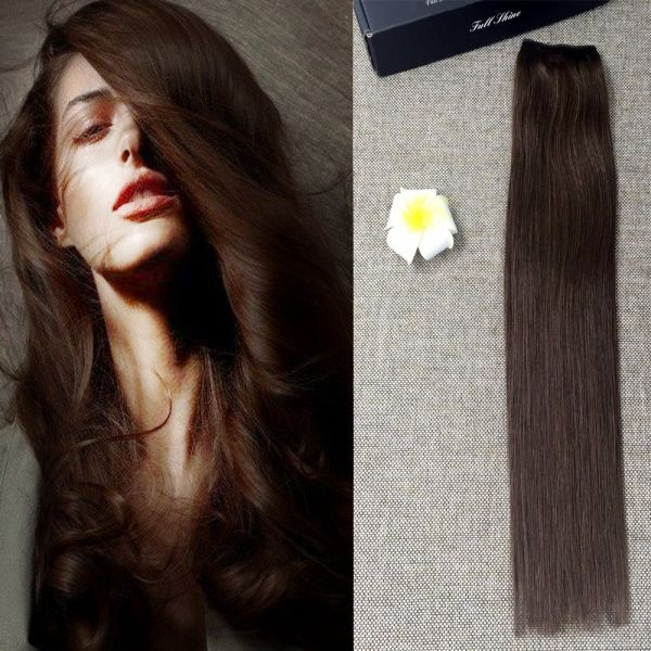 Souq Full Shine 16inch Straight Remy Human Flip Hair Extensions 4