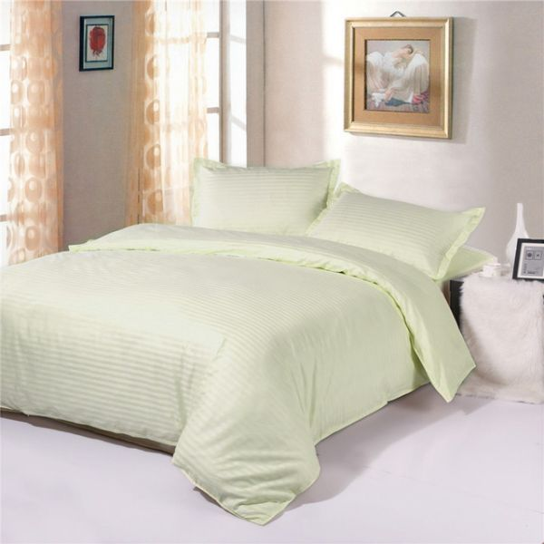 Cream Queen Size 180 X 200 + 30 Cm Hotel Linen Fitted Bed Sheet