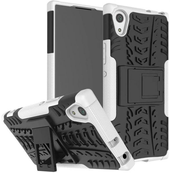 new product f7522 7c3c6 Sony Xperia XA1 Ultra -Hybrid Armor Shockproof Rugged Case Cover White