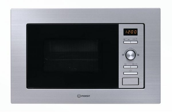 Indesit 22 Liters Built In Microwave Grill Oven Stainless Steel With Traditional Broil Mwi 122 2xuk