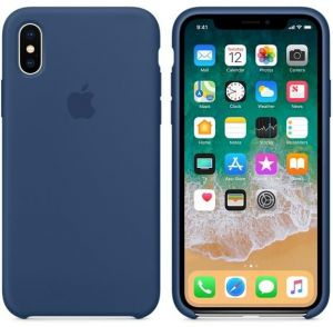 b6d6107316 Apple iPhone X Silicone Back Case - Blue , MMWF2ZM/A With Screen 3D of the  same color as the Case - The case is tightly closed - make sure you are the  ...