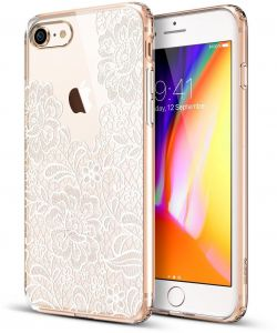Apple iPhone 7 / iPhone 8 ESR Slim Fit Floral Totem Anti Scratch PC Back Case Cover - White Floral