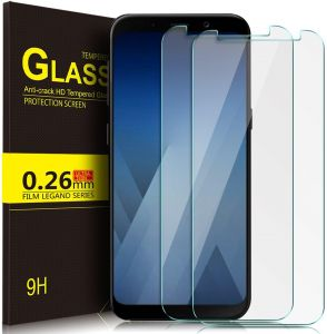 Samsung Galaxy A8+ Plus 9H Tempered Glass Screen Protector Scratch Guard - 2 Pack