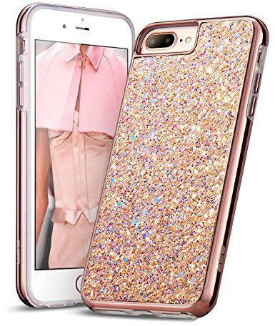 6b517c95cb1 Apple iPhone 8 Plus   iPhone 7 Plus ESR Glitter Bling Hard Cover with Dual  Layer Structure - Rose Gold