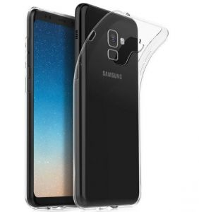 pretty nice 88bef 88473 Samsung Galaxy A8 Plus 2018 (A8+ 2018) Silicone Back Case Cover Clear bY  muzz