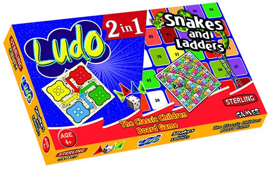 Sterling 2 In 1 Ludo And Snakes Ladders Board Game