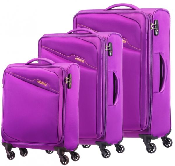 0b9c4b62b52a American Tourister Luggage Trolley Bags Set Of 3 Pieces , Purple , 28O50004