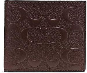 Coach Mahogany Leather For Men - Coin Purses & Pouches