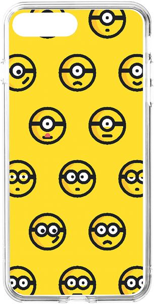souq switch minion emoji printed clear case for apple iphone 8