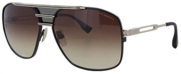 f046a508658 DITA Armada DRX-2045-B Gold-brushed   Black Aviator Sunglasses with Brown  Gradient Lens Unisex
