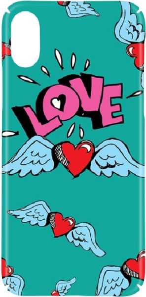 Switch Heart Wings 01 Hard Cases & Covers Apple iPhone X - Turquoise