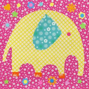 Oopsy Daisy Fine Art For Kids Perfectly Patterned Elephant Stretched Canvas By Rachel Taylor 21 Inch NB3026
