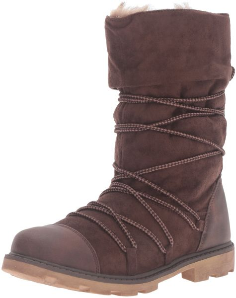 f757beec837452 Roxy Women's Isla Winter Boot, Chocolate, 8.5 M US