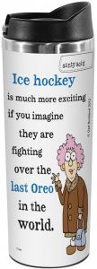 18-Ounce The Solution Tree Free Tree-Free Greetings VB47891 Aunty Acid Artful Traveler Stainless Steel Water Bottle