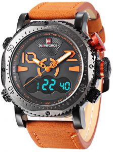37c2f4c8e2 NAVIFORCE Casual Watch For Men - Analog PU Leather Band