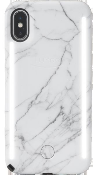 best service 555ee 8aa9d LuMee DUO iPhone X - White Marble | Souq - Egypt