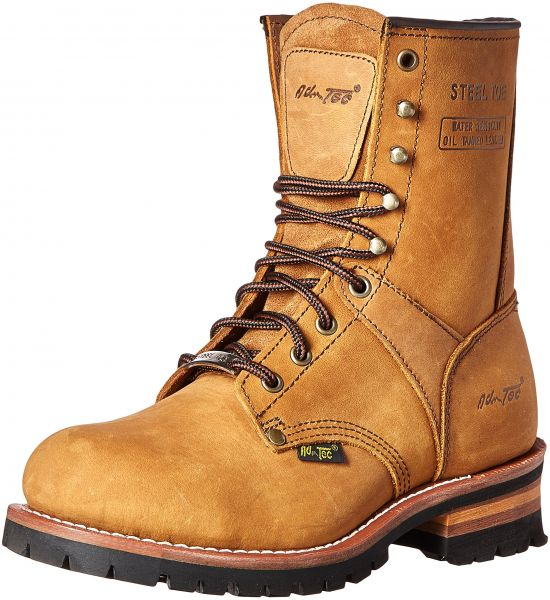 93d8363671f Adtec Men's 9 Inch Steel Toe M Logger Boot, Brown, 9.5 M US