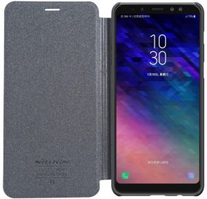 Nillkin Samsung Galaxy A8 Plus Case Wallet Leather Gray