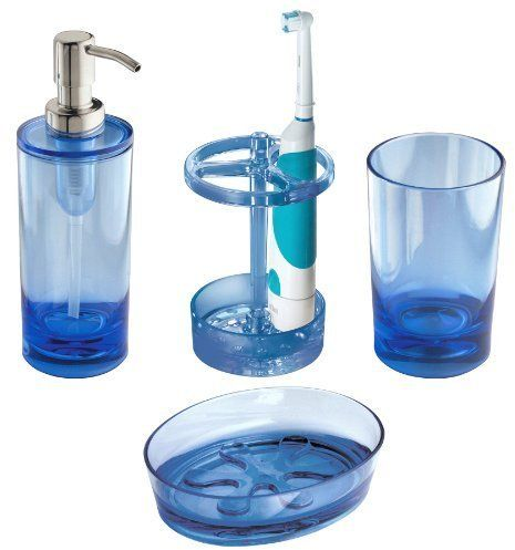 Interdesign Eva Bath Accessory Set Soap Dispenser Pump Toothbrush