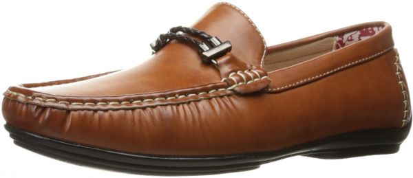 Mens Percy-Braided Strap Driving Moc Oxford, Tan Smooth, 8.5 M US Stacy Adams
