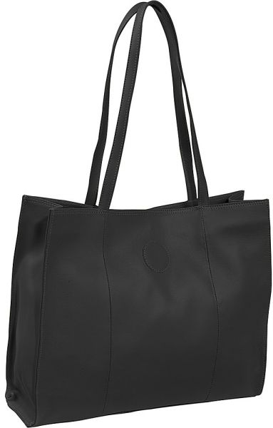 Piel Leather Carry All Market Bag Black One Size