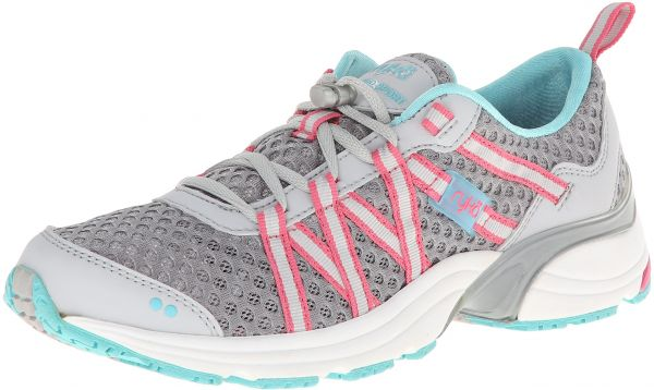 cc736db990ee0 Ryka Women's Hydro Sport Water Shoe Cross-Training Shoe, Silver Cloud/Cool  Mist Grey/Winter Blue/Pink, 12 M US