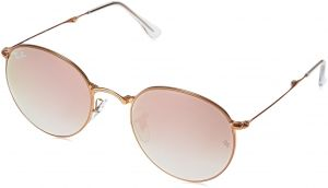 4d9a028ab3 Ray-Ban Metal Man Sunglasses - Shiny Bronze Frame Copper Flash Gradient  Lenses 47mm Non-Polarized