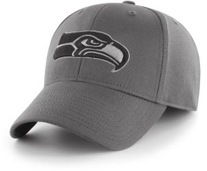 meet 1da6c 6f3eb OTS NFL Seattle Seahawks Comer Center Stretch Fit Hat, Charcoal, Large X- Large