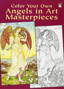 Color Your Own Angels In Art Masterpieces Dover Coloring Book