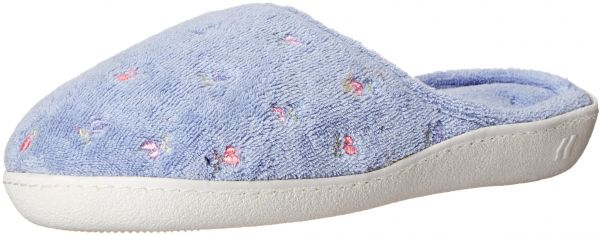 f377b02d9de92f Isotoner Women s Terry Embroidered Scalloped Clog