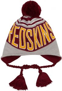 2d959a2a4bdc91 NFL Washington Redskins Wintry Worded Knit Peruvian Hat, One Size, Red