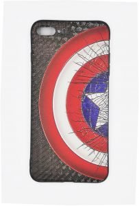 iPhone Case for iPhone 7 Plus / 8 Plus- Marvel Super Heroes Character Captain America Design