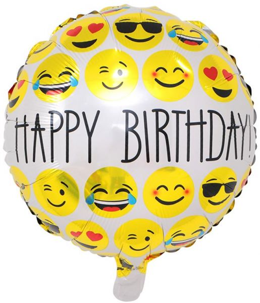 BESTPICKS 18 Inches Emoji Foil Balloon For Birthday Party Home Decoration